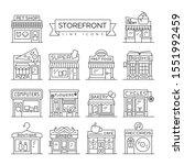 set of 14 storefronts like... | Shutterstock .eps vector #1551992459