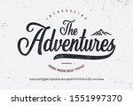 """the adventures"". vintage brush ... | Shutterstock .eps vector #1551997370"