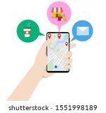 human hand holding mobile phone ... | Shutterstock .eps vector #1551998189