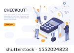 checkout landing page vector...