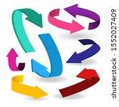 colorful arrow symbols. arrow...   Shutterstock .eps vector #1552027409