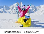 ski  winter  snow  skier  sun... | Shutterstock . vector #155203694