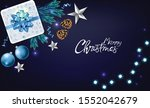 christmas panoramic banner with ... | Shutterstock .eps vector #1552042679