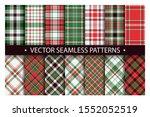 tartan set pattern seamless... | Shutterstock .eps vector #1552052519