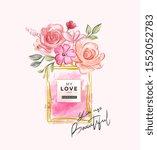 beautiful slogan with flowers... | Shutterstock .eps vector #1552052783