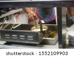 Small photo of Fond du Lac, Wisconsin / USA - July 21st, 2019: Many different Concession stands being used to feed the visitors at Fond du Lac County Fair