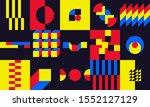 bauhaus design  retro colorful... | Shutterstock .eps vector #1552127129