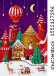 christmas winter wonderland... | Shutterstock .eps vector #1552127396