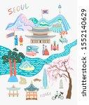 doodle flat raster version... | Shutterstock . vector #1552140629