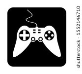 game console on black square...   Shutterstock .eps vector #1552146710