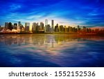 abstract spring sunrise... | Shutterstock . vector #1552152536
