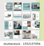 social media pack. business...   Shutterstock .eps vector #1552157096