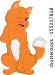 cute cat cartoon | Shutterstock . vector #155217818