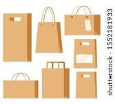 set of empty kraft brown blank... | Shutterstock .eps vector #1552181933