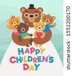 happy children's day greeting...   Shutterstock .eps vector #1552200170