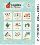 go green this christmas  how to ... | Shutterstock .eps vector #1552215869