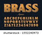 a vector alphabet stylized with ... | Shutterstock .eps vector #1552240973