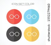 glasses icon in trendy flat... | Shutterstock .eps vector #1552279460