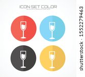wineglass icon in trendy flat... | Shutterstock .eps vector #1552279463