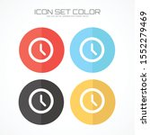 clock icon in trendy flat style ... | Shutterstock .eps vector #1552279469