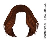 coffee brown short hairstyle ... | Shutterstock .eps vector #1552286366
