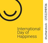international day of happiness... | Shutterstock .eps vector #1552298936