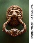 Antique Knocker With Lion\'s...
