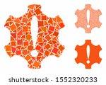 danger composition of ragged... | Shutterstock .eps vector #1552320233