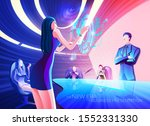a conceptual illustration of a... | Shutterstock .eps vector #1552331330