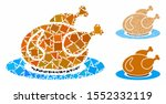 chicken meal mosaic of ragged... | Shutterstock .eps vector #1552332119