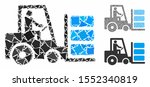 forklift composition of raggy... | Shutterstock .eps vector #1552340819