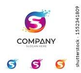 letter s water wave logo. s... | Shutterstock .eps vector #1552341809