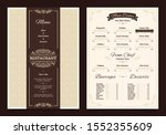 brown creative menu design.... | Shutterstock .eps vector #1552355609
