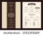 brown creative menu design.... | Shutterstock .eps vector #1552355609
