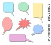 speech bubbles set. blank color ... | Shutterstock .eps vector #1552355873