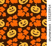 halloween background with funny ... | Shutterstock .eps vector #155235914