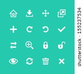 web icons set. toolbar  edit... | Shutterstock .eps vector #155237534