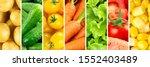 background of vegetables. fresh ... | Shutterstock . vector #1552403489