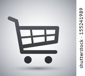 vector shopping cart icon | Shutterstock .eps vector #155241989