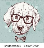 Vintage Illustration Of Hipste...