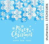 christmas greeting card with... | Shutterstock .eps vector #1552431806