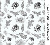 seamless pattern with cones and ... | Shutterstock .eps vector #155244953