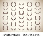 collection of different golden... | Shutterstock .eps vector #1552451546