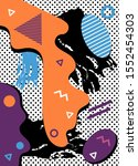 abstract concept graphic... | Shutterstock .eps vector #1552454303