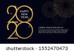 happy new year 2020 typography... | Shutterstock .eps vector #1552470473