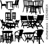 tables and chairs collection   ... | Shutterstock .eps vector #155248814