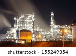 oil refinery at night | Shutterstock . vector #155249354