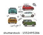 car let's go trip boo    Shutterstock . vector #1552495286