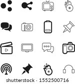 media vector icon set such as ... | Shutterstock .eps vector #1552500716