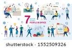 working in office people trendy ... | Shutterstock .eps vector #1552509326